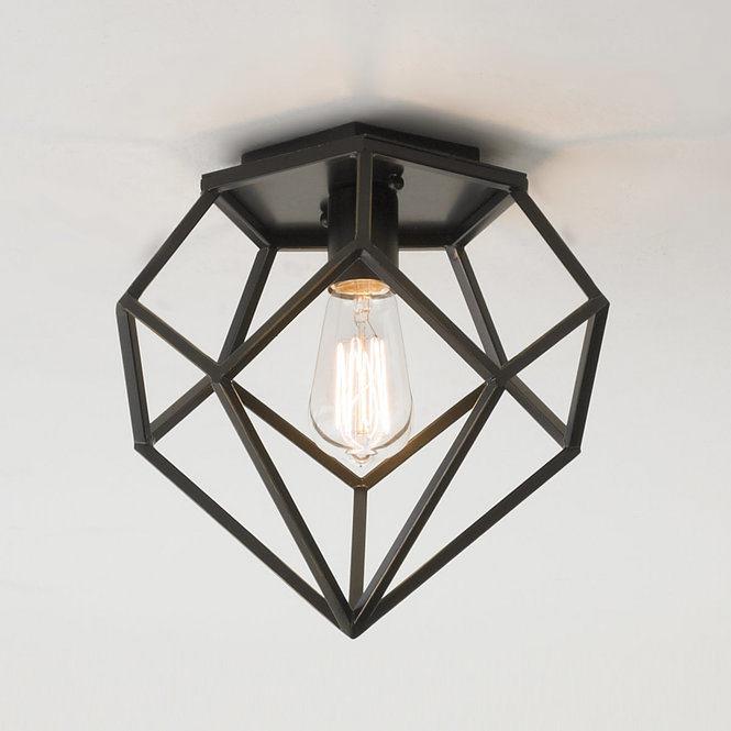 Geometric Diamond Ceiling Light