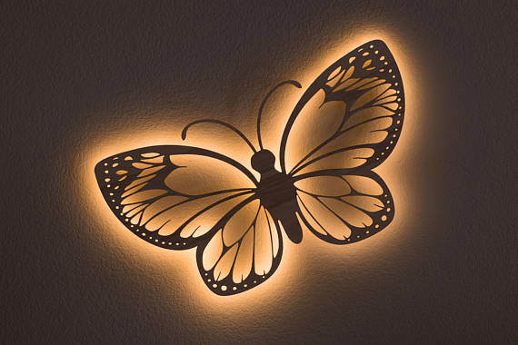 Butterfly Wall Hanging Accent Light