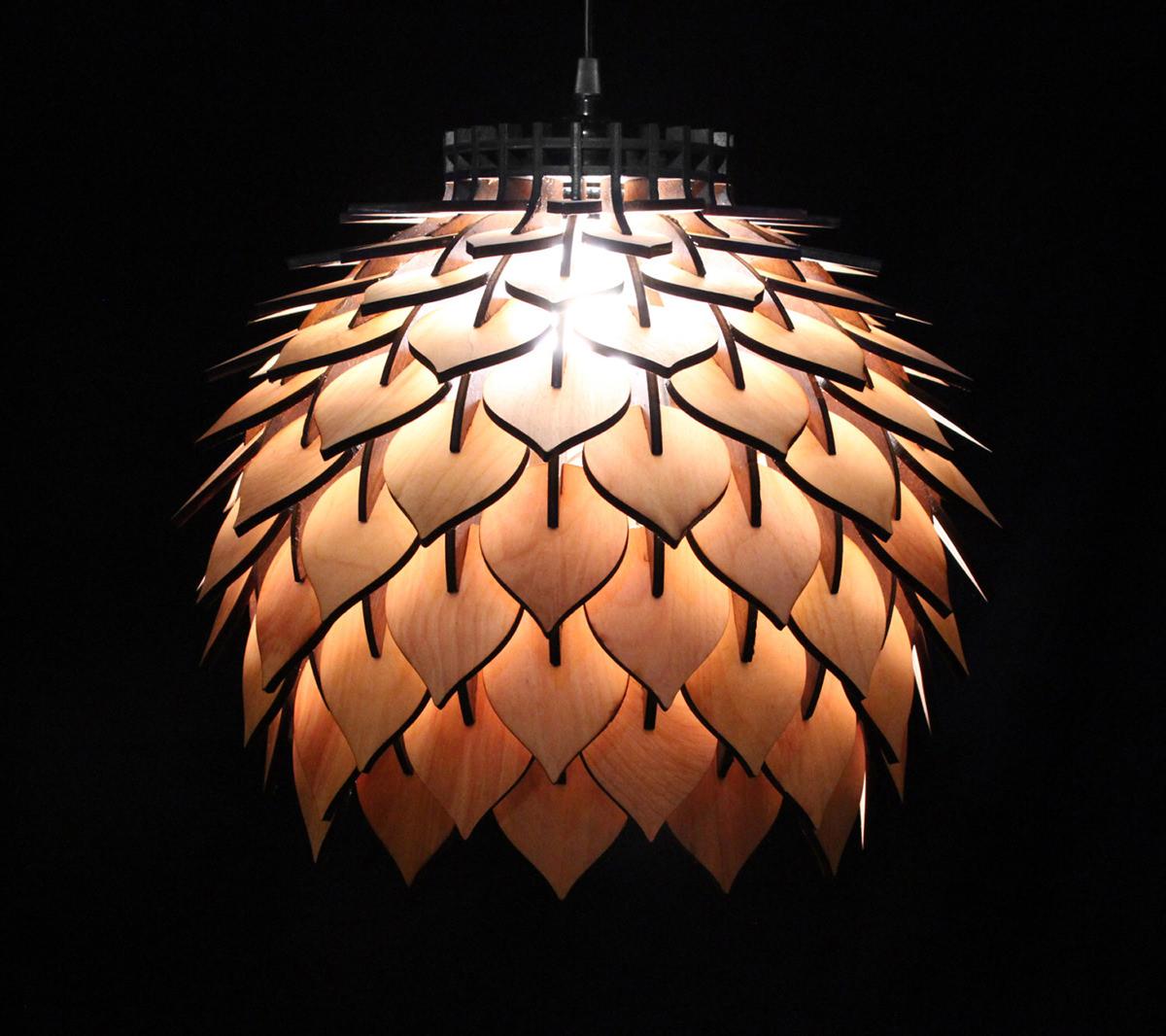 Spore Lamp - Laser Cut Pendant Lamp