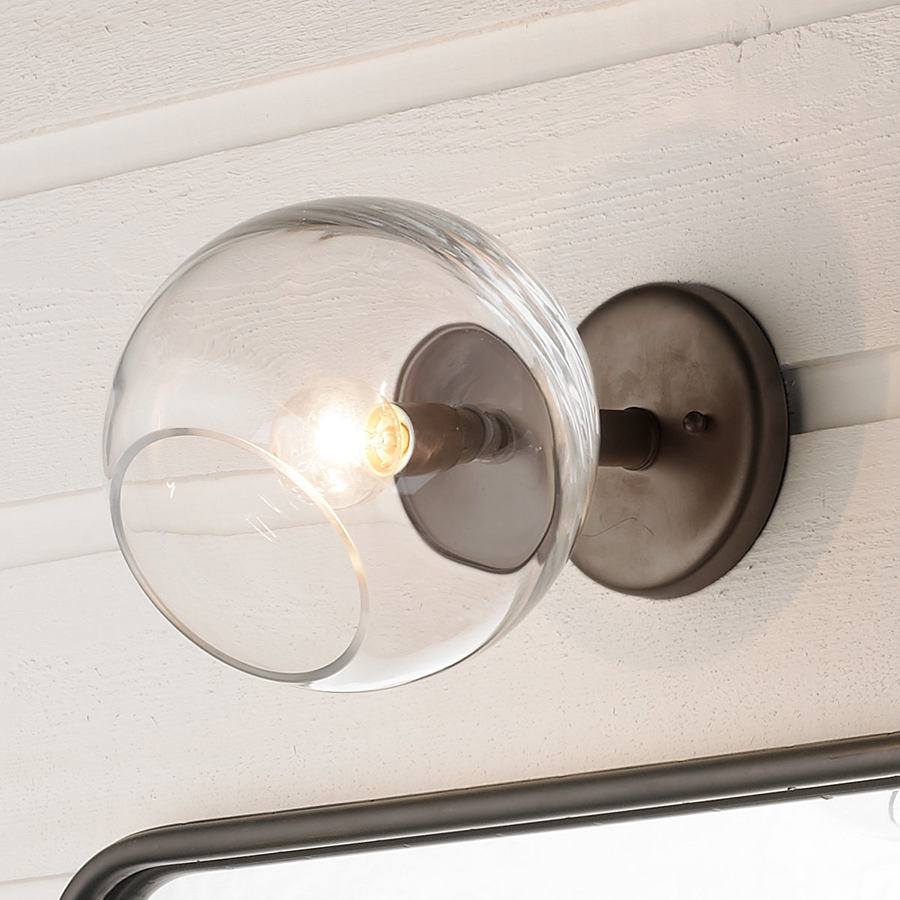Wonky Glass Wall Sconce