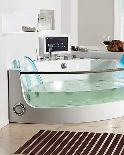 Semi-Circle Whirlpool Bathtub