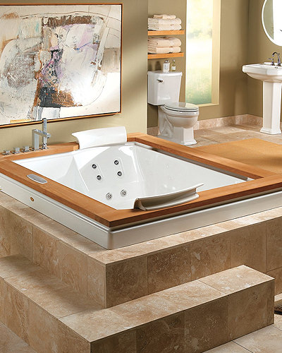 Square Whirlpool Bathtub