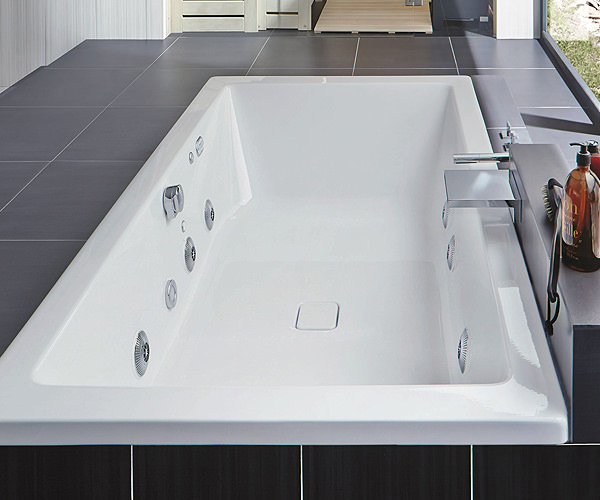 Enamelled Steel Whirlpool Bathtub